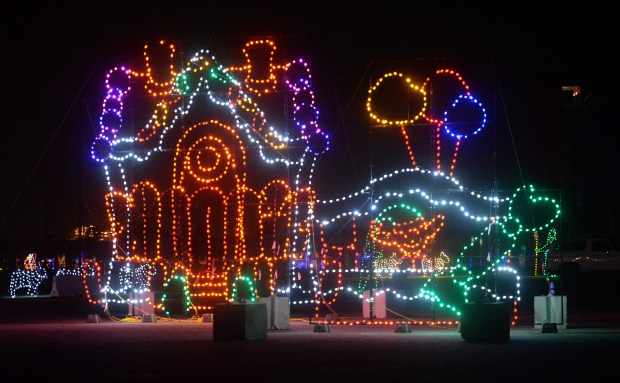 This holiday season the Auto Club Speedway is hosting a 1.5 mile drive-through holiday light display labeled the Magic of Lights, running from November 17 through December 31, 2017 in Fontana, Ca., November 20, 2017. (John Valenzuela/Inland Valley Daily Bulletin/SCNG)