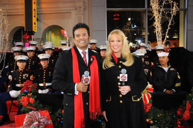 Erik Estrada and Laura McKenzie return as this year's hosts of the Hollywood Christmas Parade. (Courtesy of the Hollywood Christmas Parade)