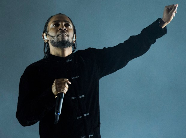 Kendrick Lamar performs at the Coachella Stage at the second weekend of the Coachella Valley Music and Arts Festival at the Empire Polo Club in Indio Sunday, April 23, 2017. (Photo by Thomas R. Cordova, Press-Telegram/SCNG)