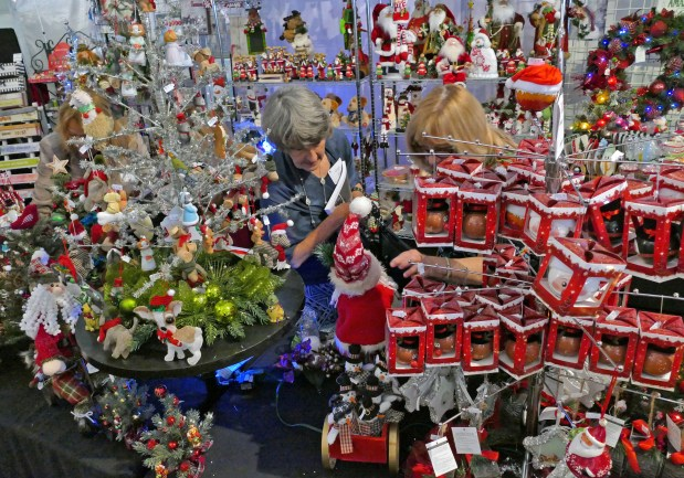 Torrance Memorial Medical Center began it's 34th annual Holiday Festival Tuesday November 28, 2017 featuring volunteer decorated holiday trees in a 30,000 square-foot winter wonderland. Visitors will find ornaments, wreaths, centerpieces and stocking stuffers with proceeds going to neonatal and pediatric care.Photo by Robert Casillas, Daily Breeze/SCNG