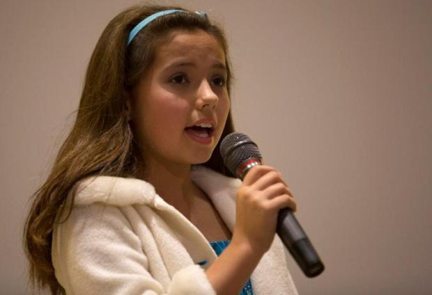 """Torrey Blue impressed the crowd and judges with her rendition of the Pentatonix version of """"White Winter Hymnal"""" at the Tustin holiday talent show in 2015. ARIELLE BERGER, CONTRIBUTING PHOTOGRAPHER"""