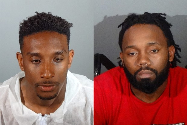 Markeith Daniels, left, Robert Lee LivingstonGardena police photos