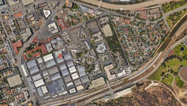 A small fire was reported Monday, Nov. 20, 2017, on the Warner Bros. studio lot at 4000 Warner Blvd. in Burbank. (Google Maps)
