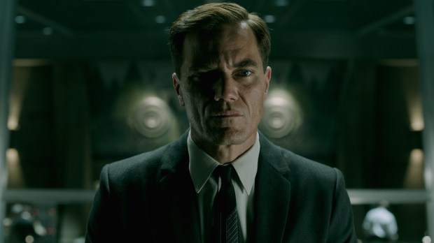 Michael Shannon in the film THE SHAPE OF WATER. Photo by Kerry Hayes. © 2017 Twentieth Century Fox Film Corporation All Rights Reserved