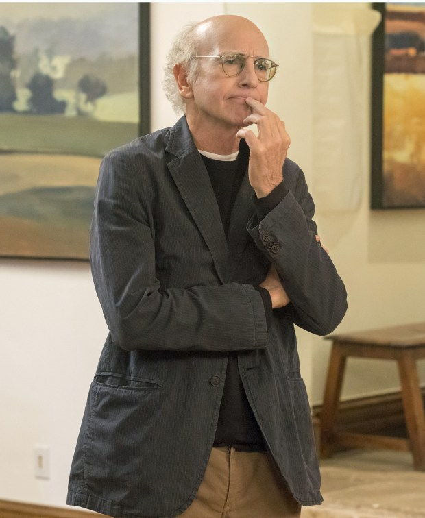 "Larry David in the season finale of HBO's ""Curb Your enthusiasm."""