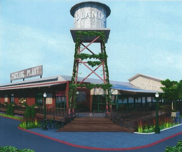 Rendering of the proposed Redlands Packing Plant project by Arteco Partners Inc. (Courtesy)
