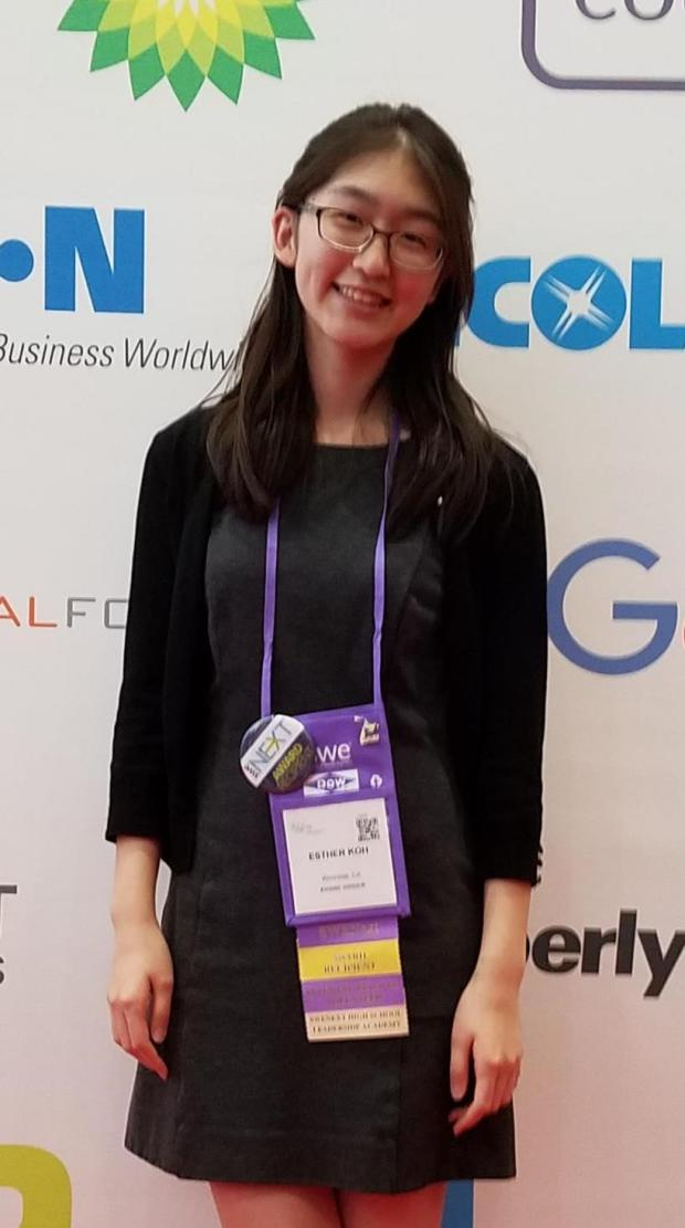 Esther Koh, a senior at King High School in Riverside, recently received a SWENext Global Innovator Award from the Society of Women Engineers. (Photo courtesy of Esther Koh)