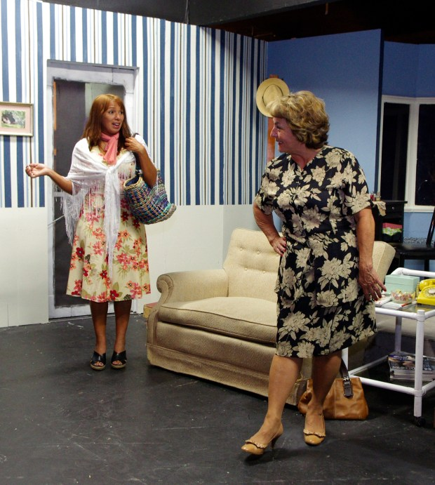 "Monica Reichl, left, performs as as M'Lynn in ""Steel Magnolias"" for the Ramona Hillside Players in 2015. She was named Artist of the Month by Arts Council Menifee for November 2017. (Photo courtesy of Arts Council Menifee)"