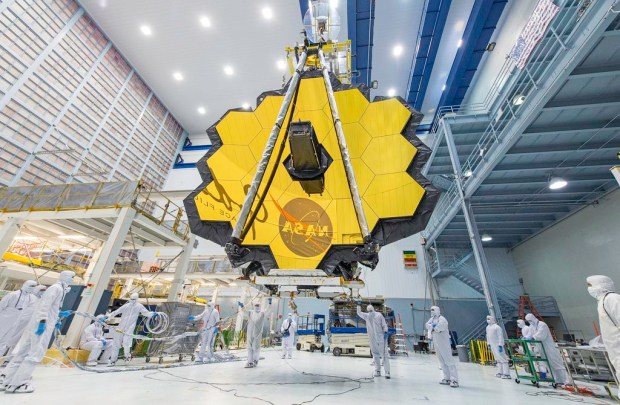 The James Webb Space Telescope is about to begin final assembly at Northrop, after intense testing at NASA facilities across the country. The successor to Hubble Space Telescope will be the largest telescope and camera ever in space, and is designed to, among other things, get up-close looks at distant, water bearing planets. It's set for launch next year. Credit Northrop Grumman Corporation