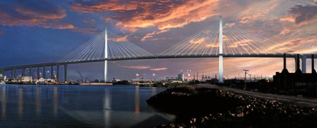 This rendering shows the new Gerald Desmond Bridge (Courtesy)
