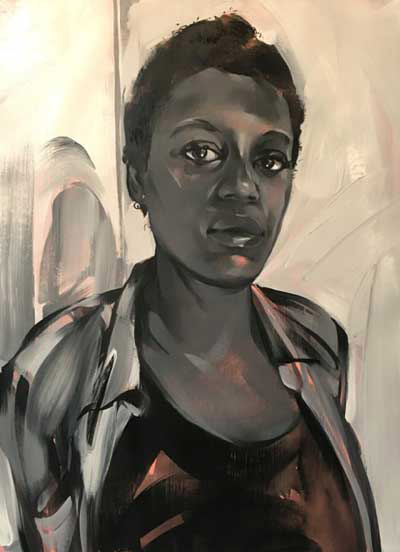 """Jessica Wimbley"" by Rebecca Campbell (Image courtesy of L.A. Louver)"