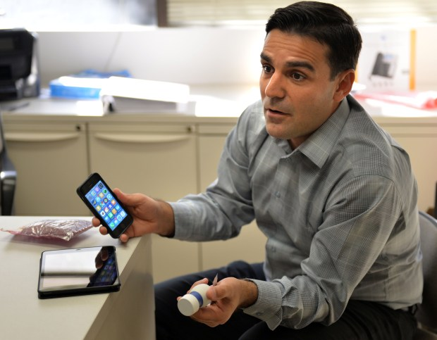 Niema Pahlevan, Assistant Professor of Aerospace and Mechanical Engineering and Medicine at USC, is developing a smartphone app to measure heart health and predict heart attacks. Los Angeles December 12, 2017. Photo by Brittany Murray, Daily Breeze/SCNG