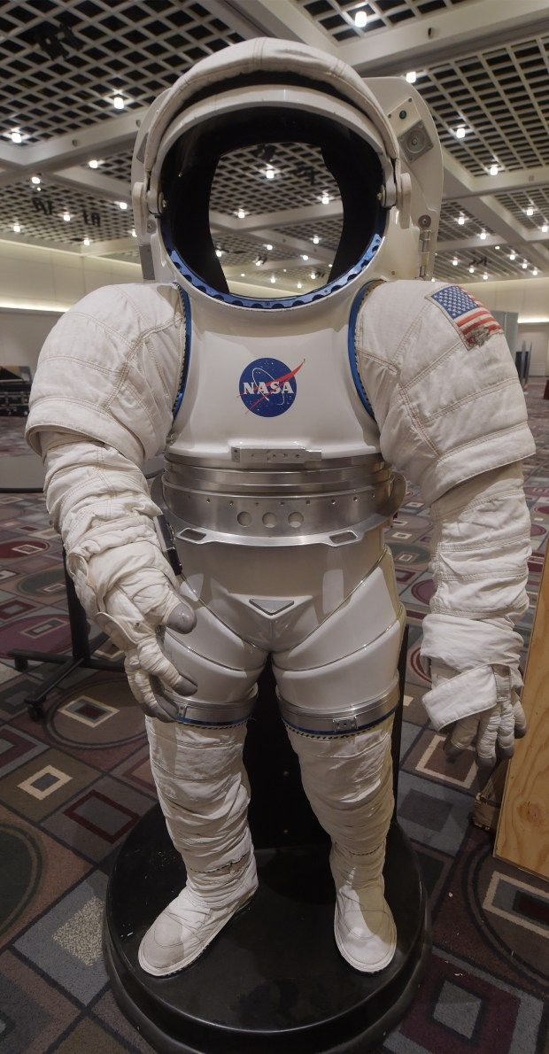 Have your photo taken in a space suit at Live on Green at Pasadena Convention Center Thursday, December 28, 2017. Explore, Experience and Enjoy! -- 3 Days of Celebration in the heart of Pasadena leading up to the Rose Parade and the Rose Bowl Game.(Photo by Walt Mancini/Pasadena Star-News/SCNG)