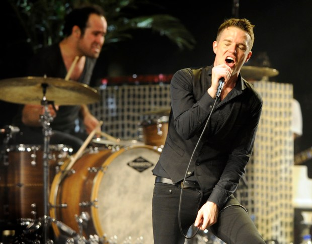 Las Vegas-based rock band The Killers will hit San Diego before performing two nights at Staples Center in Los Angeles on Thursday, Feb. 1 and Friday, Feb. 2.(Photo by Chris Pizzello, Associated Press)