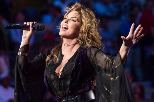 """Country singer-songwriter Shaina Twain made a huge comeback in 2017 with her new album, """"Now,"""" and her headlining performance at the 2017 Stagecoach Country Music Festival in Indio back in April. Twain will bring her 2018 Now Tour to Staples Center in Los Angeles on Friday, Aug. 3. (Photo by Charles Sykes, Associated Press)"""