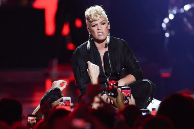 Pop star Pink will perform all over Southern California when she brings her Beautiful Trauma World Tour to the area in 2018. (Photo by John Salangsang, Associated Press)