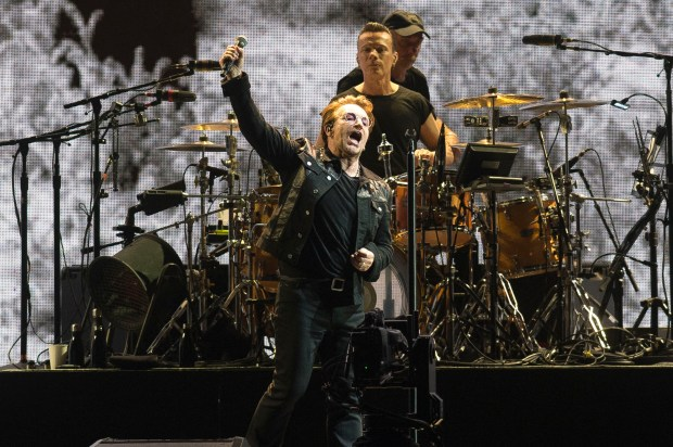 Mega rock band U2 will bring its Experience + Innocence Tour to the Forum in Inglewood for two evenings in 2018. (Photo by Matt Masin, Orange County Register/SCNG)