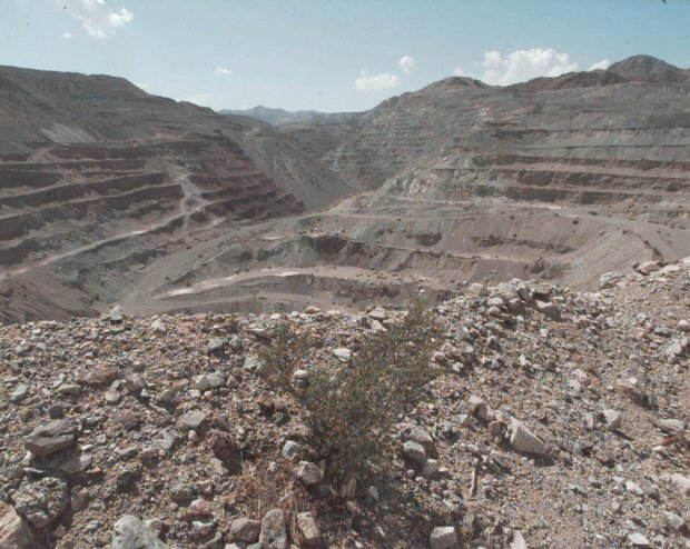 The courts shut down a long-embattled effort to place a landfill at the former Kaiser Steel mine at Eagle Mountain in California's Mojave Desert. AP FILE PHOTO/1997