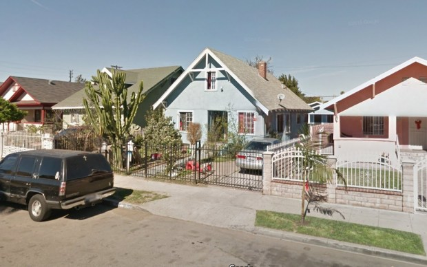 The LA city attorney has filed a lawsuit against the owners and operators of a duplex at 1331 E. 43rd St. in South Los Angeles that alleges the property is a stronghold for local criminal street gangs and the site of shootings, drug use and loud parties. (Google Street View)