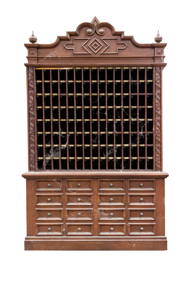 This original lobby prop key cabinet from the Tower of Terror attraction at Disney California Adventure sold at auction Dec. 16, 2017 for $12,650. Photo and description courtesy of Van Eaton Galleries, Sherman Oaks, CA.