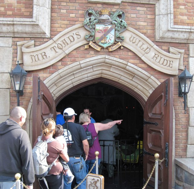 The entrance to Mr. Toad's Wild Ride attraction in Fantasyland at Disneyland. Photo by MARK EADES, THE ORANGE COUNTY REGISTER