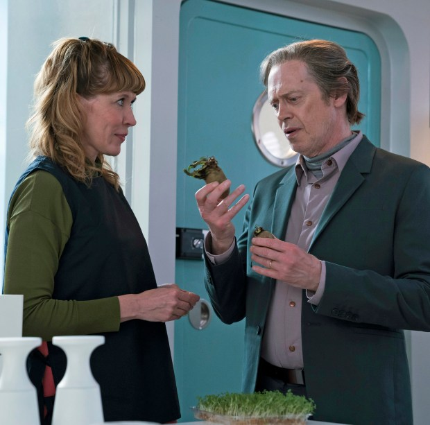 "Julia Davis and Steve Buscemi in ""Crazy Diamond,"" the fifth episode of ""Philip K. Dick's Electric Dreams,"" coming to Amazon Jan. 12."