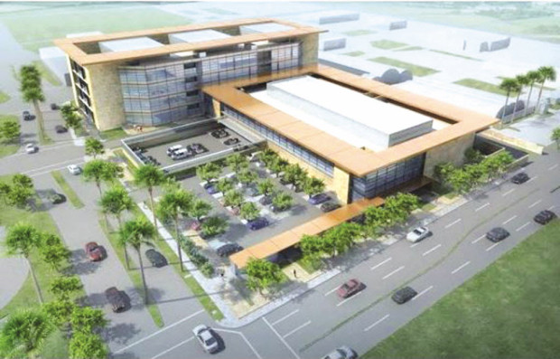 An artist's rendition of the John J. Benoit Detention Center in Indio currently under construction.