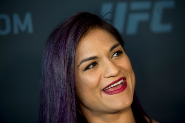 No. 6 UFC women's strawweight Cynthia Calvillo during UFC 219 Ultimate Media Day at the T-Mobile Arena in Las Vegas, Nev., Thursday, Dec. 28, 2017. (Hans Gutknecht, Los Angeles Daily News/SCNG)