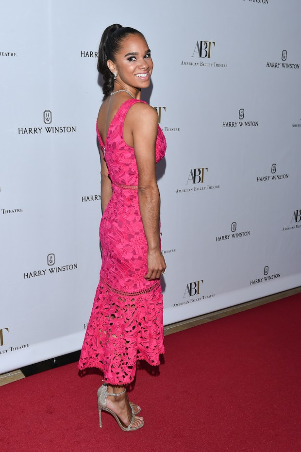 ABT principal dancer Misty Copeland attends the ballet company's Holiday Benefit dinner and performance at The Beverly Hilton Hotel in Beverly Hills.