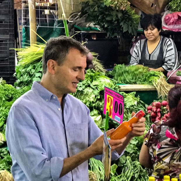 "Phil Rosenthal (""Everybody Loves Raymond"") at a Mexican market in his Netflix original series ""Somebody Feed Phil,"" coming in January."