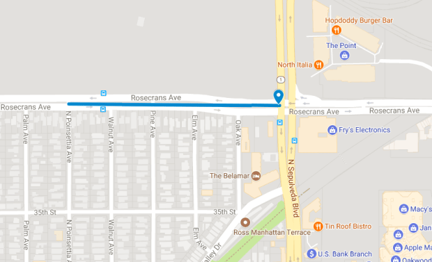 Lane closures are coming to a stretch of Rosecrans Avenue Dec. 11-15 to accommodate Southern California Edison crews replacing transmission towers.