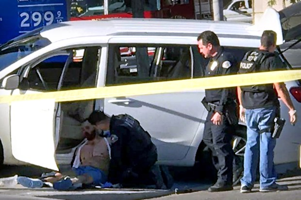 West Covina police shot and wounded a suspect at Glendora and Cameron avenues following a pursuit on Friday, Dec. 15, 2017. (Courtesy, Giovanni Benitez)