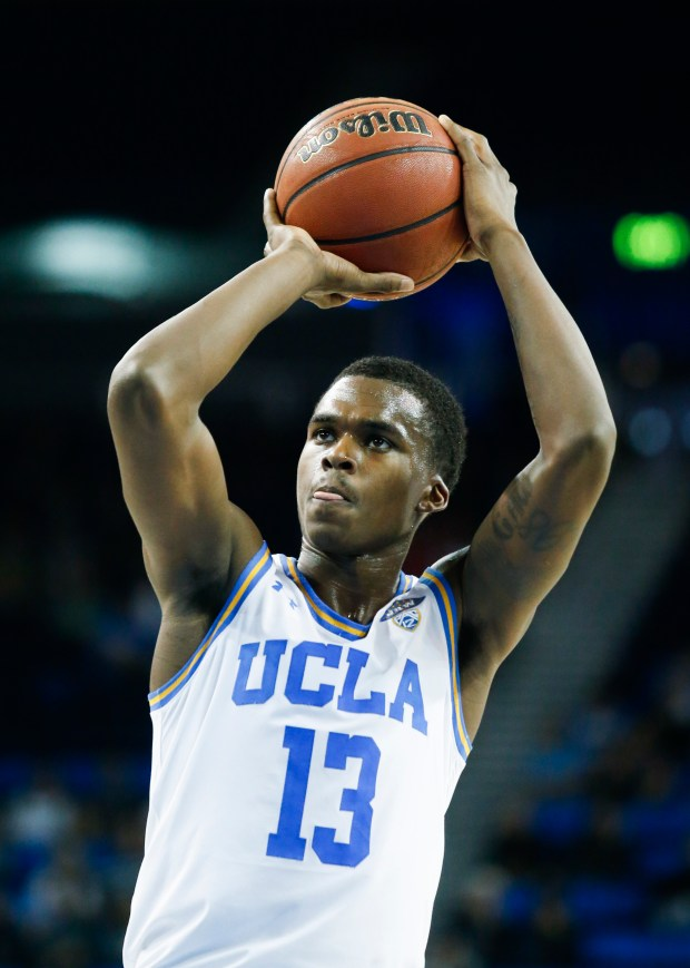 UCLA guard Kris Wilkes (13) in action during an NCAA college basketball game between UCLA and Washington in Los Angeles, Sunday, Dec. 31, 2017. (AP Photo/Ringo H.W. Chiu)