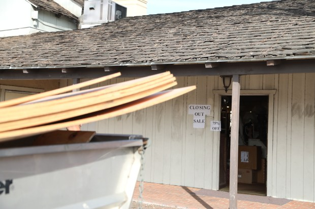 Shops began getting boarded up Tuesday at Ports OÕ Call Village as tenants face a March 2 deadline to move out. Demolition and construction will follow to open a new attraction, San Pedro Public Market in 2020.Chuck Bennett/Daily Breeze/SCNG