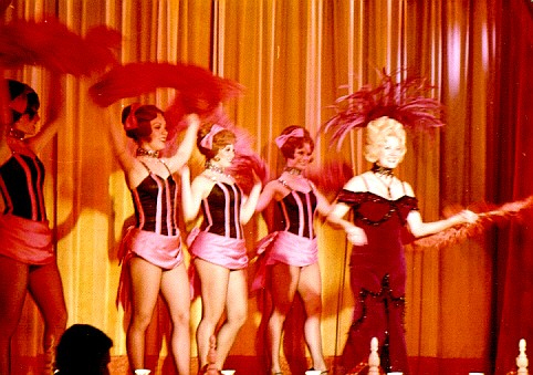"Betty Taylor (right) played ""Slue Foot Sue"" in the Disneyland live stage show of the ""Golden Horseshoe Revue"" for nearly 45,000 performances for more than 30 years beginning in 1956. (Photo courtesy of the Disneyland Resort)"