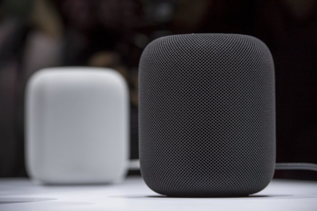 The Apple HomePod, an Internet-connected speaker that competes with similar products from Amazon and Google, will arrive in stores two weeks after pre-orders begin on Friday, Jan. 26, 2018. The Apple product sells for $349. (Courtesy photo)