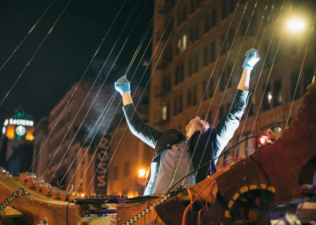 William Close's Earth Harp will be among the street attractions at Night on Broadway on Jan. 27. Photo by Samuel Hernandez.