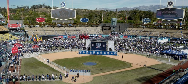 The annual fanfest at Dodger Stadium on Jan. 27, 2018 in Los Angeles. (Photo by Keith Birmingham, Pasadena Star-News/SCNG)