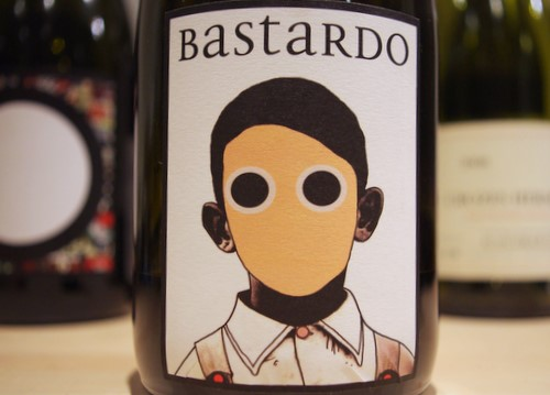 The Bastardo grape is primarily used in Portugal to make Port. It has aromas of black cherry and violets, ending with a light sweetness on the palate. I'm assuming that's what the name on this label refers to -- not the disturbing boy with bottomless holes for eyes. (Photo courtesy Conceito)