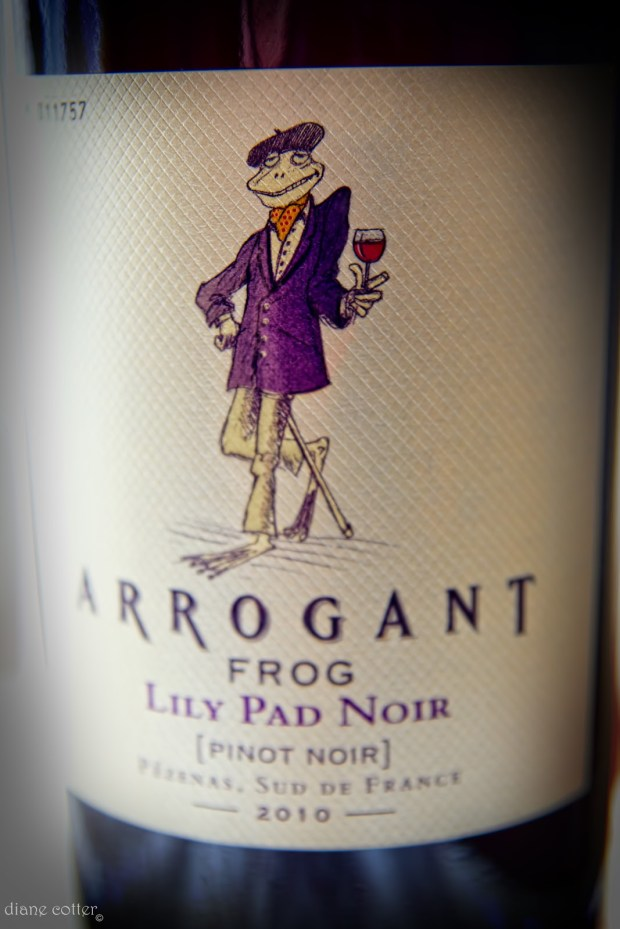 "Arrogant Frog: ""Within a couple of years, Arrogant Frog has made itself the mascot of our Estates. The humble winemaker shows that with creativity, know-how and a sense of humor, one can make Southern French wines shine around the world and give pure pleasure, at a reasonable price!"" Hmm, I wonder how fellow Frenchmen feel about the label? (Photo courtesy Arrogant Frog)"