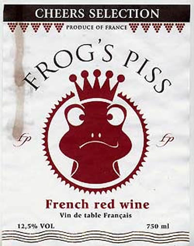"Frog's Piss: See my entry under ""Arrogant frog."" Same deal. (Photo courtesy vinepair.com)"