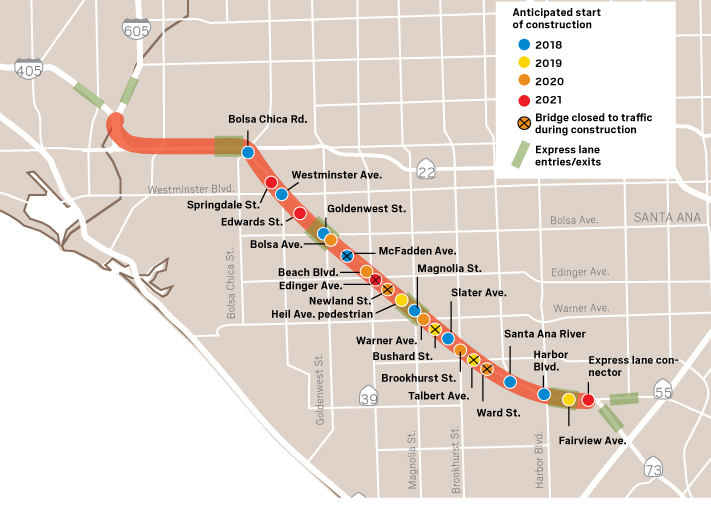 Map Of California 5 Freeway.Here Are The Major Highway Improvement Projects Happening In
