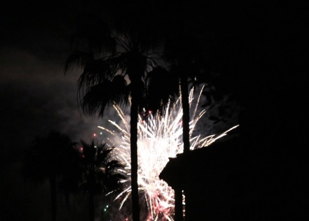 Fireworks at Monarch Beach Resort on Tuesday drew alarms from residents in the north end of Dana Point. Some reported gunfire to the Orange County Sheriff Department. (Photo courtesy of Patty Terry)