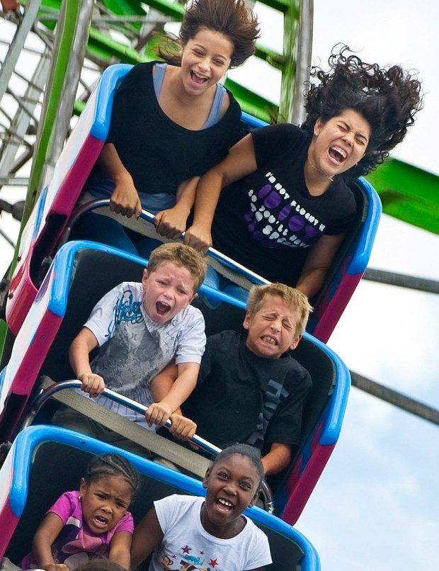 Riders on the Hi-Miler get their thrills at the OC Fair in 2011. (Photo by Mindy Schauer, Orange County Register/SCNG)