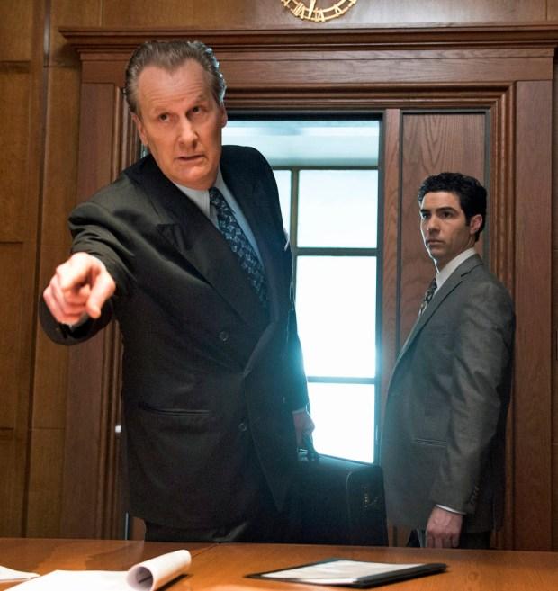 "Jeff Daniels and Tahar Rahim in ""The Looming Tower,"" beginning on Hulu on Feb. 26."