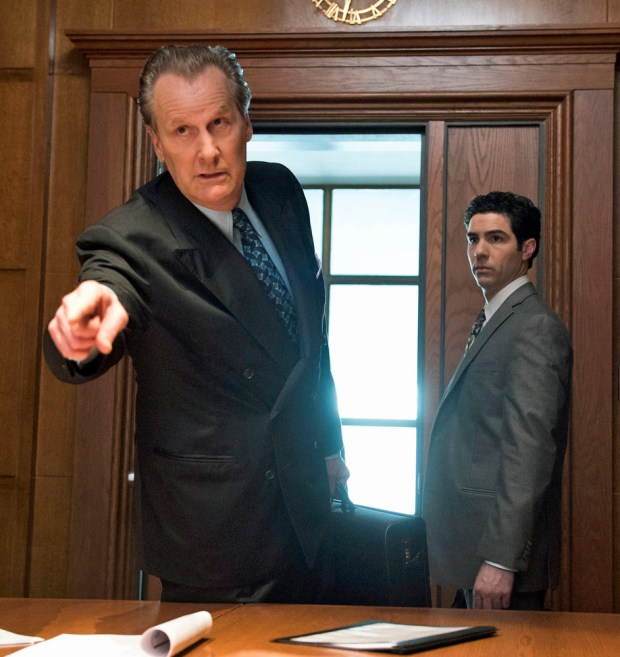 "Jeff Daniels and Tahar Rahim in ""The Looming Tower,"" beginning on Hulu on Feb. 26."