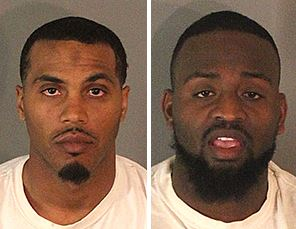 Niko Hayes, 28, left, and Burrell Doumont Roberts Jr., 27, were arrested Saturday, Jan. 27, 2018, on suspicion of stealing $500,000 worth of merchandise from at least 20 retail cosmetic stores. (Photos courtesy of Riverside County Sheriff's Department)
