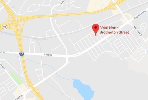 Riverside County sheriff's deputies responded at 1:09 a.m. Sunday, Jan. 14, 2018, to a stabbing in the 3900 block of Brotherton Street in Home Gardens. A deputy-involved shooting followed. (Via Google Maps)