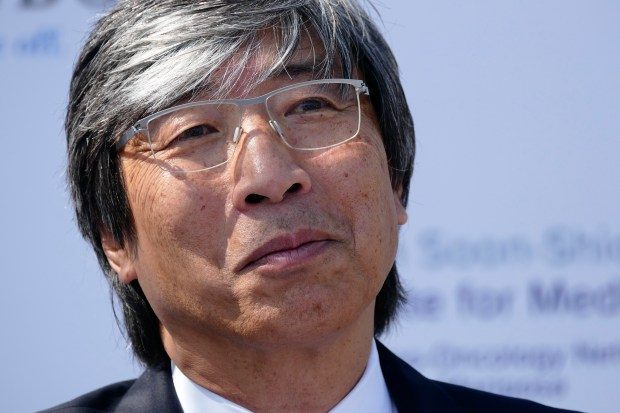 Sources tell the Washington Post that Patrick Soon-Shiong, a Los Angeles-area physician and a major shareholder of Tronc, is buying the Los Angeles Times and the San Diego Union-Tribune. (Photo by Brad Graverson/SCNG/07-11-17