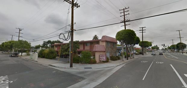 Two men were found stabbed early Wednesday, Feb. 7, 2018, inside a room at the Lucky Motel, 1031 W. Commonwealth Ave., in Fullerton. (Google Street View)